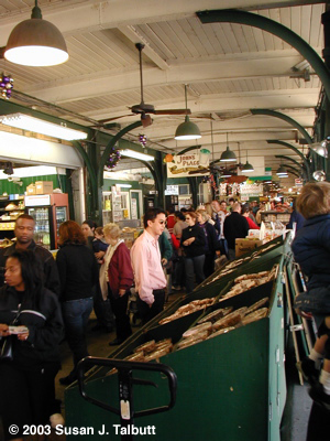 [Shopping at the French Market, part flea market, part farmer's market, part gourmet store, December 2003]